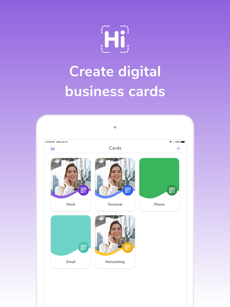 hihello digital business card app for iphone  free