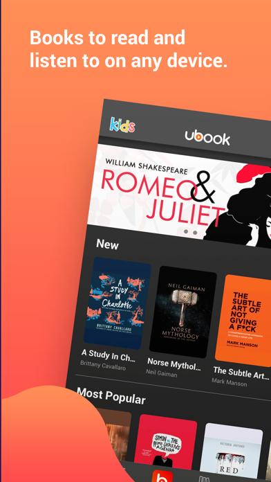 Ubook - Audiobooks Screenshot