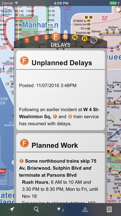 Screenshot for NYC Subway 24-Hour KickMap+ in United States App Store