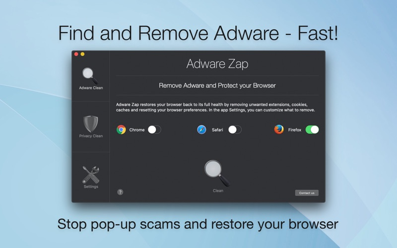 Adware Zap Browser Cleaner Screenshots
