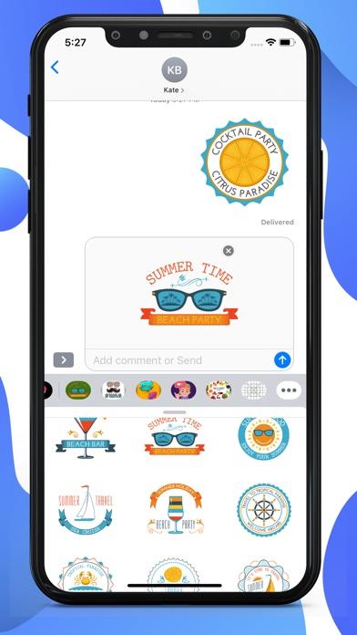 Summer Vacation Chill Stickers screenshot 3