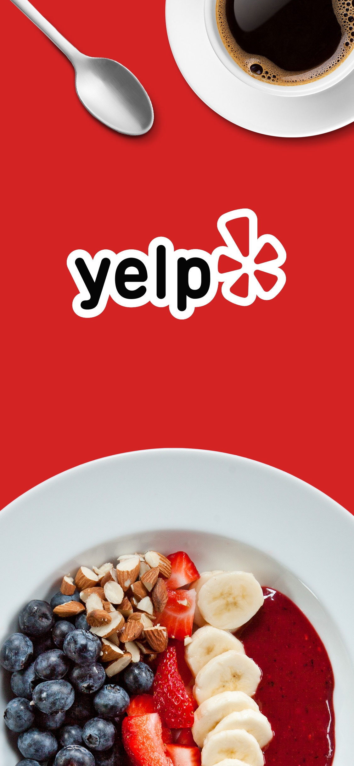Screenshot do app Yelp