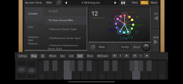 AudioKit Synth One Synthesizer Screenshot
