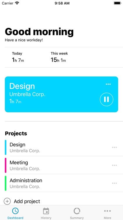 Jiffy - Work Time Tracker screenshot-5