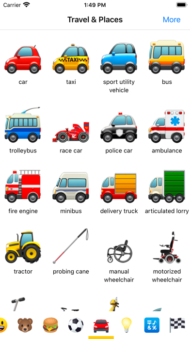 Emoji Meaning Dictionary List Screenshot