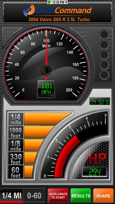 Скриншот №1 к DashCommand - OBD-II Gauges