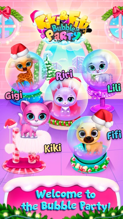 Kiki & Fifi Bubble Party screenshot 1