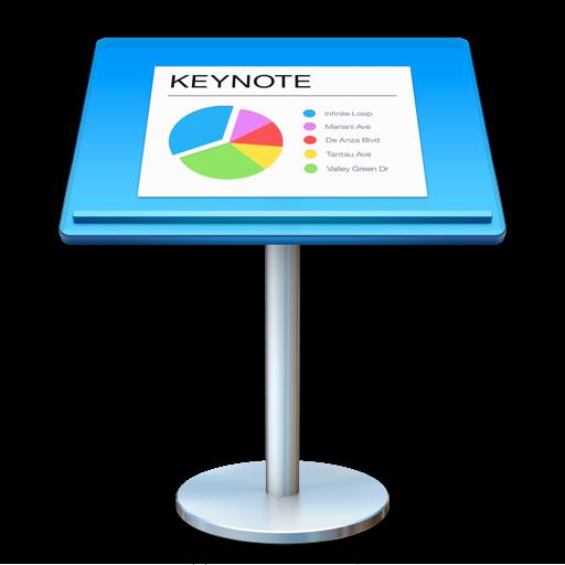 Mac上的Powerpoint Keynote