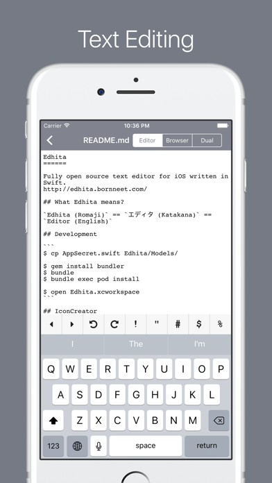 Edhita: Text Editor