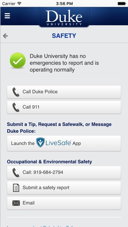 DukeMobile screenshot-4