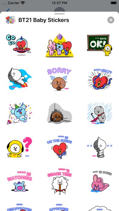 BT21 Baby Stickers screenshot 1