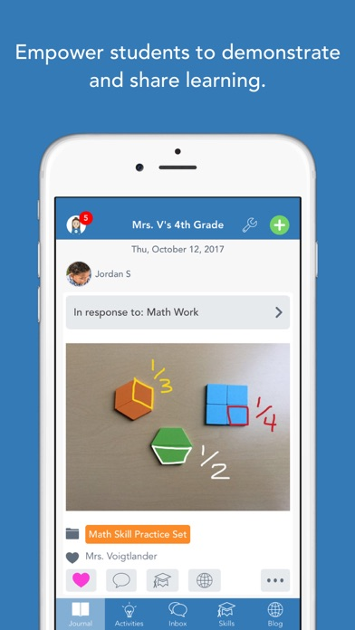 Seesaw: The Learning Journal screenshot one