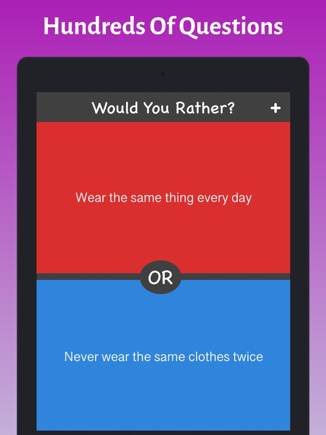 What Would You Choose Rather On The App Store