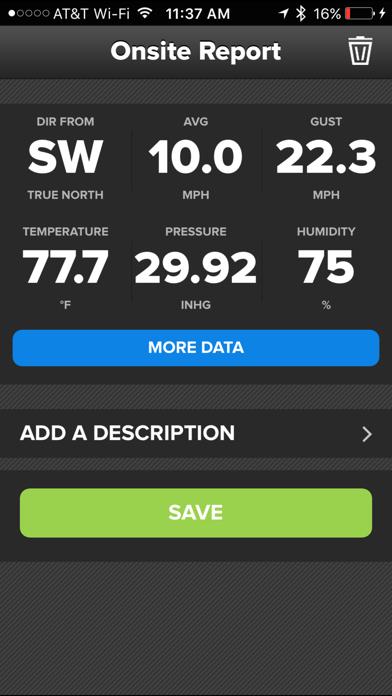 Wind & Weather Meter Screenshot