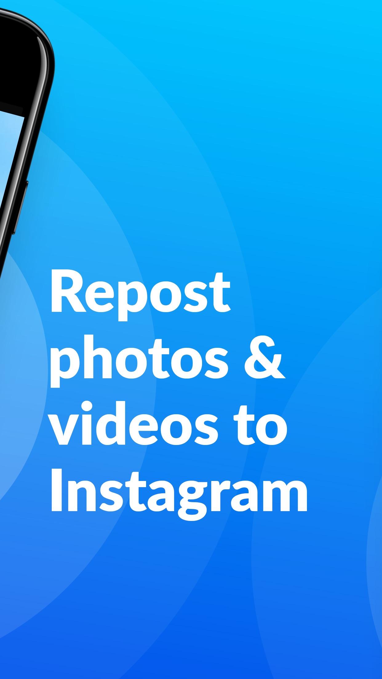 Screenshot do app Repost+ for Instagram .