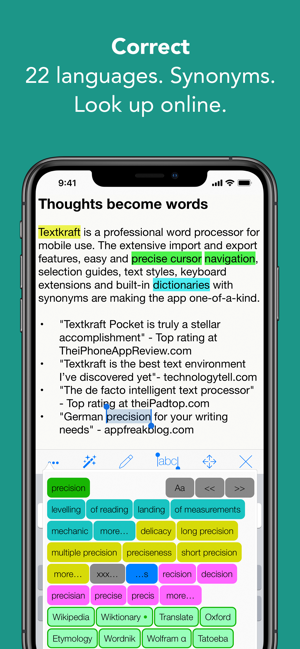‎Textkraft Pocket Screenshot