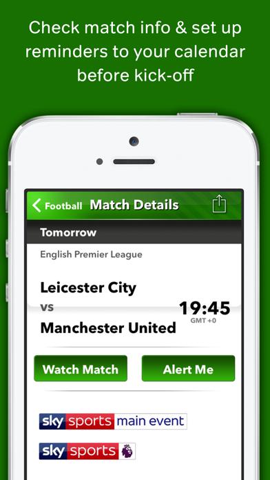Live Football on TV - WherestheMatch screenshot