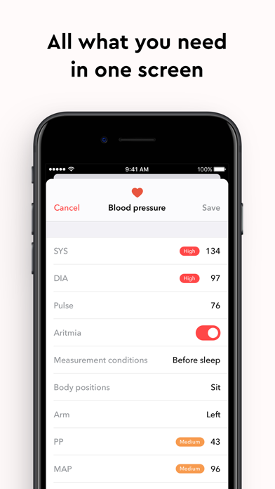 Blood Pressure Monitor app ™ screenshot 3