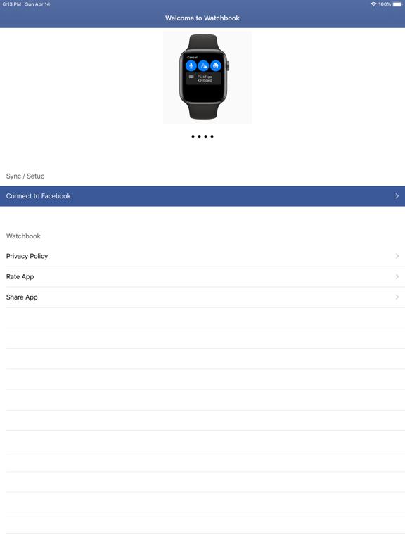 Watchbook for Facebook Screenshots
