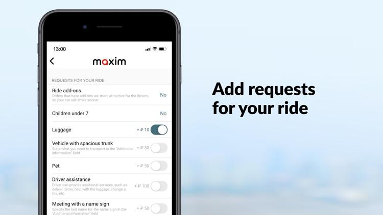 maxim — order taxi & delivery screenshot-7