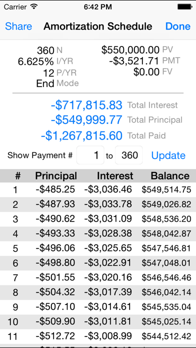 10bii Financial Calculator Screenshot
