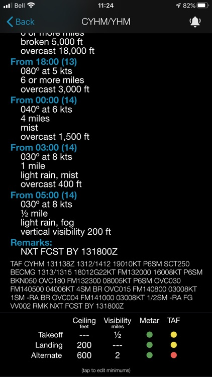 Minimums - METAR/TAF Analysis screenshot-5