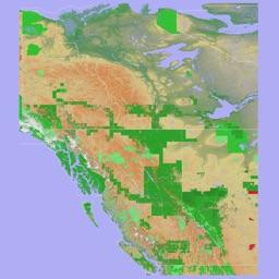 Scenic Map Western Canada