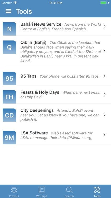 Bahá'í Prayers,Writings,Tools screenshot-7