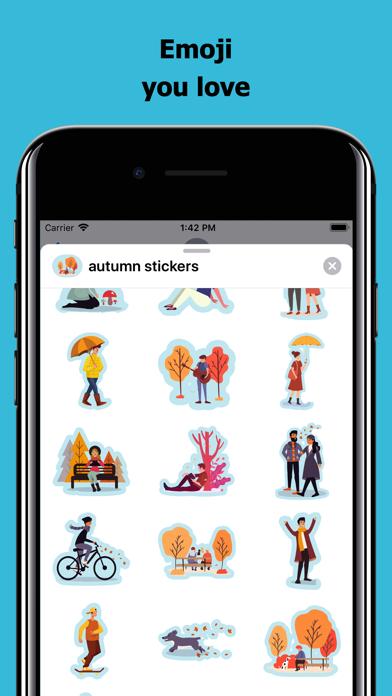 Autumn & Fall Stickers screenshot 2