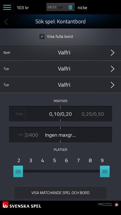 svenska spel poker app