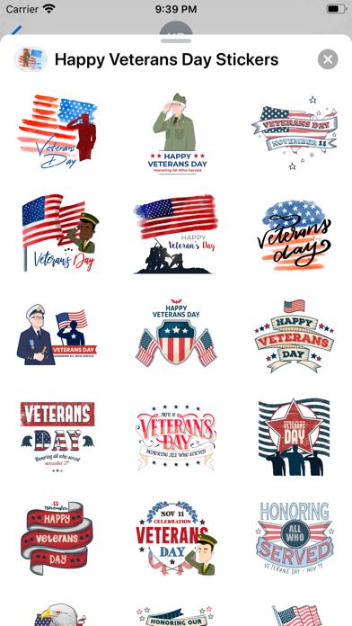 Happy Veterans Day Stickers screenshot 1