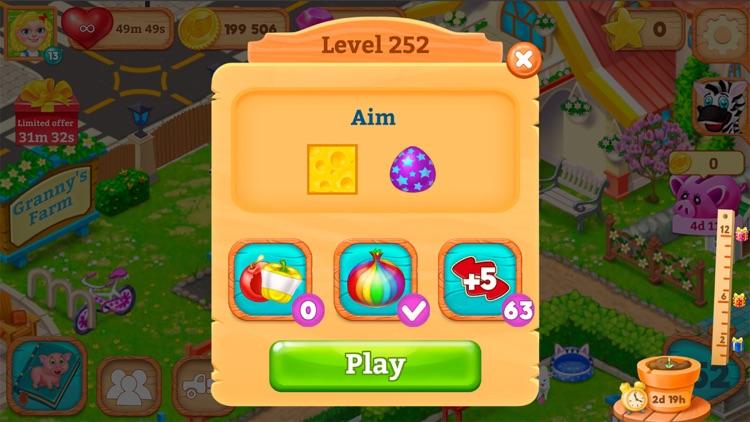 Granny's Farm: Match-3 Game screenshot-7