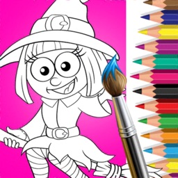 Halloween Coloring Color Book