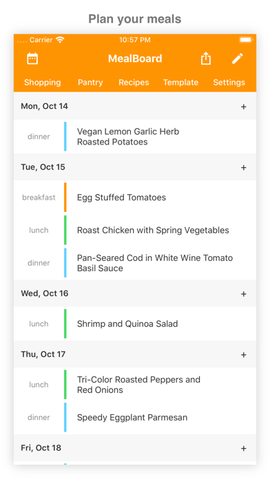 Screenshot for MealBoard in Venezuela App Store