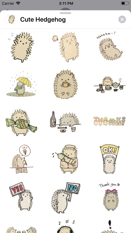 Cute Hedgehog Sticker Pack
