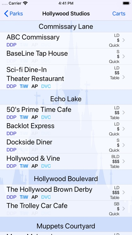 Dining for Disney World screenshot-3