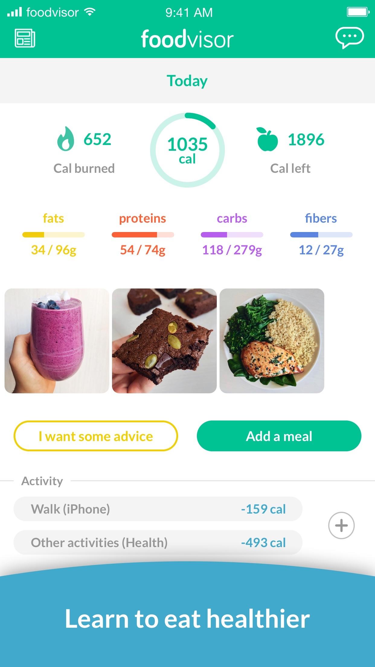 Foodvisor - Calorie Counter Screenshot