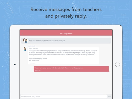 iPad Image of Seesaw Parent and Family