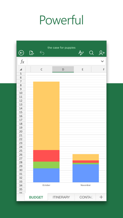 Screenshot for Microsoft Excel in New Zealand App Store