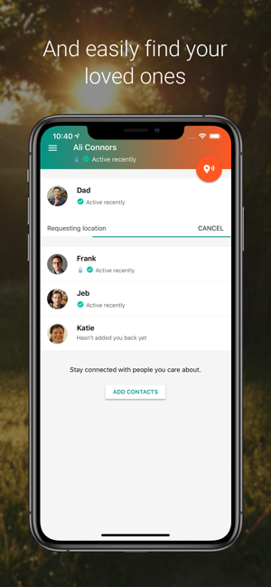 ‎Trusted Contacts Screenshot
