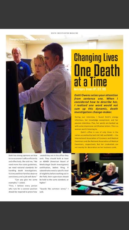 Death Investigator Magazine screenshot-5