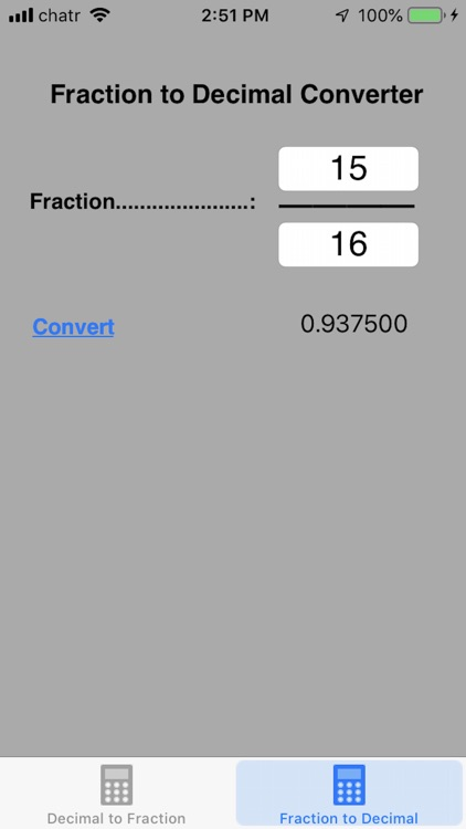 Decimal To Fraction Converter