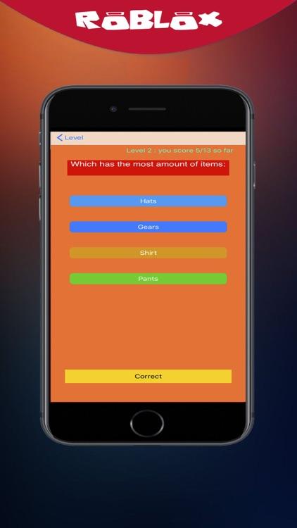 Daily Robuxat Quiz for roblox screenshot-3