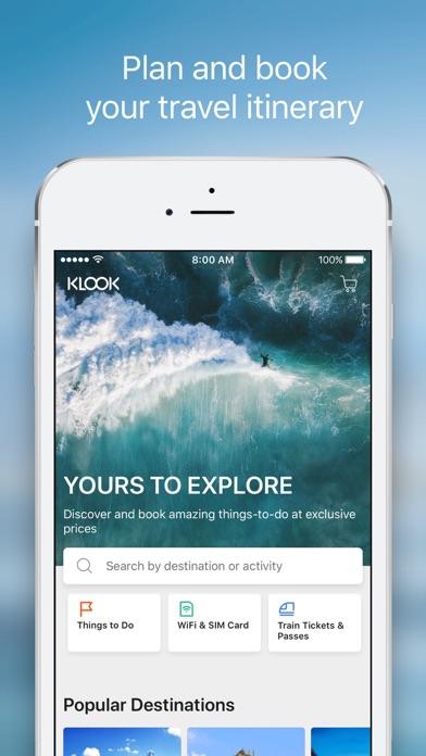 Klook Activities & Attractions screenshot