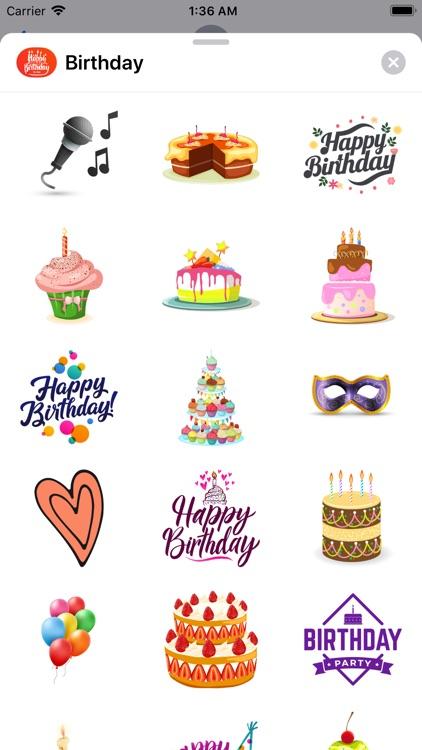 200+ Birthday MEGA Sticker App screenshot-6