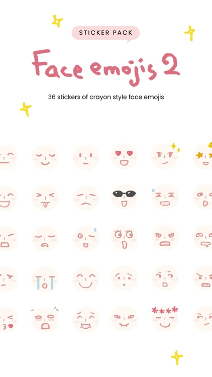 Face Emojis 2 Sticker Pack