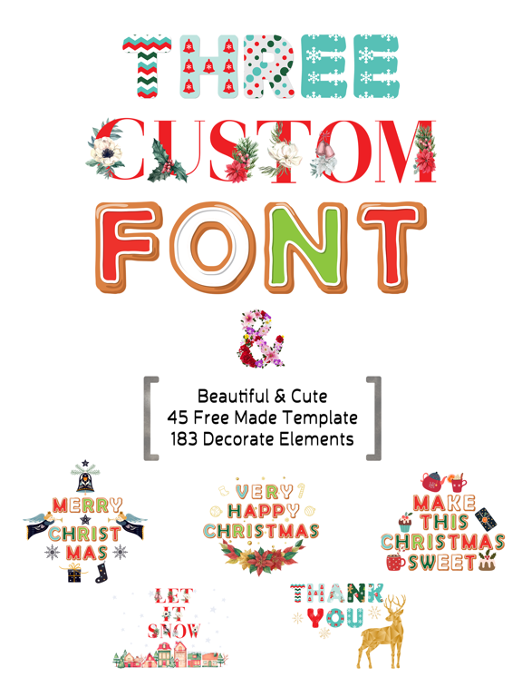 Merry Christmas - Custom Font screenshot 6