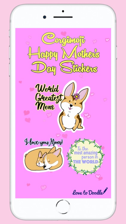 Corgimoji - Happy Mother's Day