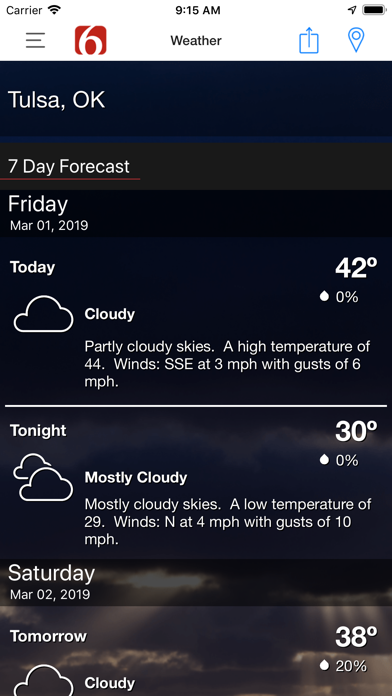 News On 6 Weather review screenshots