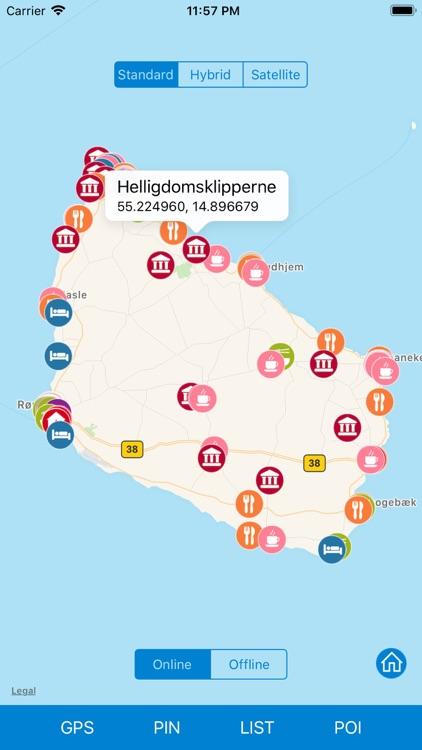 Bornholm - Route Map Offline